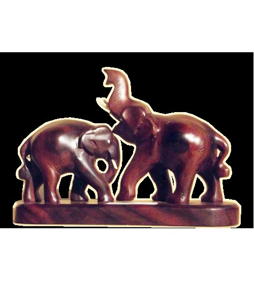 Kerala Wooden Craft Elephant Lion