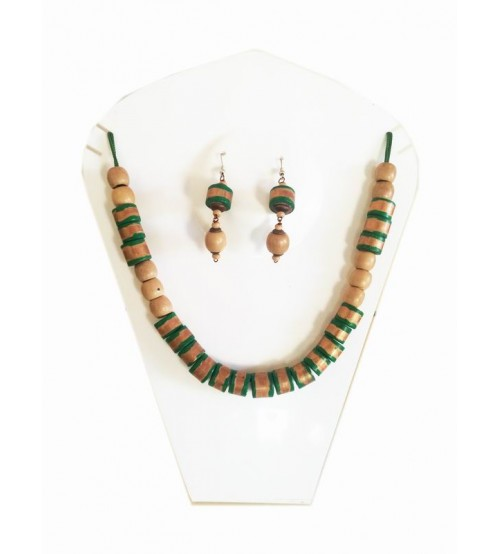 Bamboo Jewellery Necklace Ear Ring