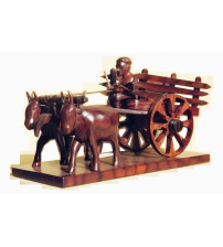 Kerala Handicraft Decorative Wooden Bullock cart