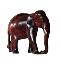 Kerala Wooden Elephant 5 Inches Tall
